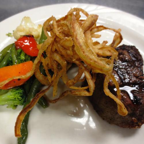 filet mignon steak dinner